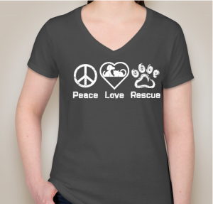 Peace Love Rescue Ladies