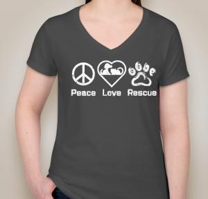 Peace Love Rescue Ladies