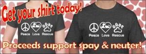 Peace Love Rescue Shirt 4 350 pixel