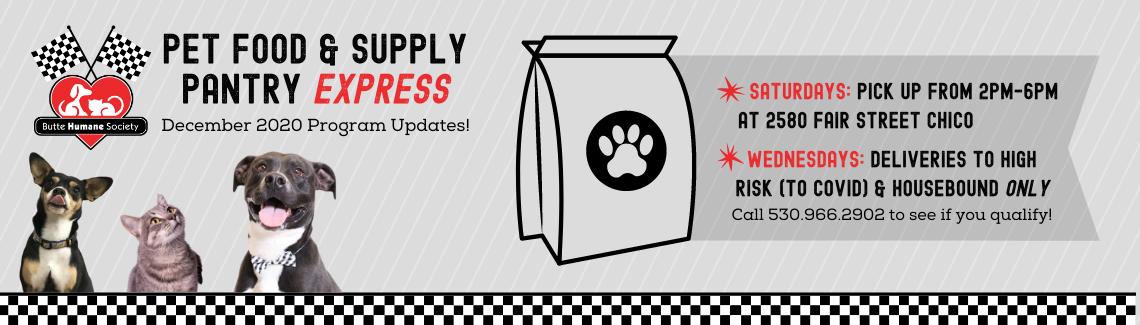 Pet Food Pantry Express Update
